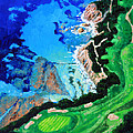 Aerial View Of Pebble Beach by John Lautermilch