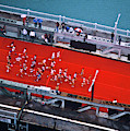 Aerial View Of People Running by Panoramic Images