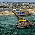 Aerial View Of Santa Monica Pier by Mountain Dreams