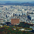 Aerial View Of Seoul South Korea by Panoramic Images