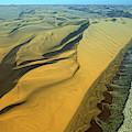 Aerial View Of Skelton Coast, Namib by David Santiago Garcia
