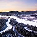 Aerial View Of The Tanana River Valley by Kevin Smith