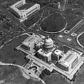 Aerial View Of U.s. Capitol by Underwood Archives