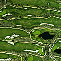 Aeriel View On A Golf Green by Michael H