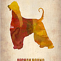Afghan Hound Poster by Naxart Studio
