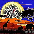 Africa At Sunset  by Saundra Myles