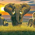 Africa Triptych Variant by Chris Heitt