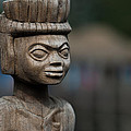 African Aging Wooden Sculpture by TouTouke A Y