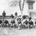 African American Football Team by Underwood Archives