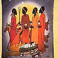 African Christmas Nativity by Sam Mart