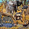 African Collage by Cynthie Fisher