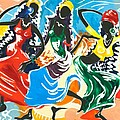 African Dancers No. 2 by Elisabeta Hermann