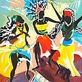 African Dancers No. 4 by Elisabeta Hermann