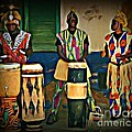African Drummers by John Malone