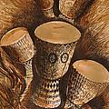 African Drums by Julius  Sakwa