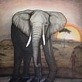 African Elephant  by Donald W White