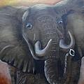 African Elephant by Fineartist Ellen