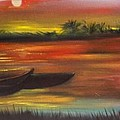 African Sunset by Martha Mullins