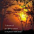 Africas Dream Nelson Mandela by F Hughes