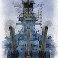 Aft Turret 3 Uss Iowa Battleship Photoart 01 by Thomas Woolworth