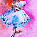 After Master Degas Ballerina With Fan by Susi Franco