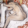 After The Bath Woman Drying Herself by Edgar Degas