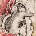 After The Bath.seated Woman Drying Herself by Edgar Degas