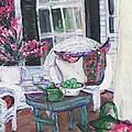 Afternoon At Emmaline's Front Porch by Helena Bebirian