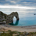 Afternoon Cloud Breaking Up At Durdle Door by Ian Middleton