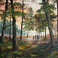Afternoon Ride Through The Forest by Jean Walker