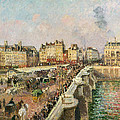 Afternoon Sunshine. Pont Neuf by Camille Pissarro