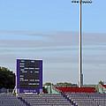 Ageas Bowl Score Board And Floodlights Southampton by Terri Waters