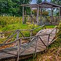 Aged Bridge And Gazebo by Gene Sherrill