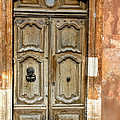 Aged Door In Provence by Dave Mills
