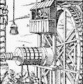 Agricola Waterwheel, 1556 by Granger