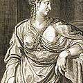 Agrippina Wife Of Tiberius by Aegidius Sadeler or Saedeler