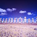Ahu Tongariki Infrared by Jess Kraft