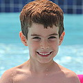 Aidan At The Pool by Jean Macaluso