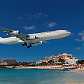 Air France At St. Maarten by David Gleeson