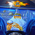 Airbrush Magic - Wizard Merlin On A Motorcycle by Christine Till