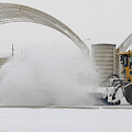 Airmen Clear Taxiway, Kunsan Air Base by Science Source