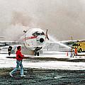 Airplane Crash Drill Landscape by Jim Fitzpatrick