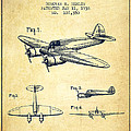 Airplane Patent Drawing From 1938-vintage by Aged Pixel