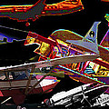 Airplanes Collage  by Cathy Anderson