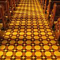 Church Aisle Patterned Floor by Ian Mcadie