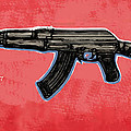 Ak - 47 Gun Pop Art Drawin Poster by Kim Wang