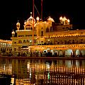 Akal Takht At Night by Devinder Sangha