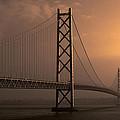 Akashi Kaikyo Bridge Osaka Bay by Daniel Hagerman