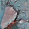 Akpatok Island by USGS Landsat