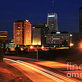 D1u-140 Akron Ohio Night Skyline Photo by Ohio Stock Photography
